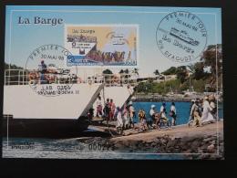 Carte Maximum Card Barge Ferry Mayotte 1998 - Brieven En Documenten