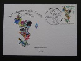 Carte Maximum Card 10 Ans De Philatélie Mayotte 2007 - Covers & Documents