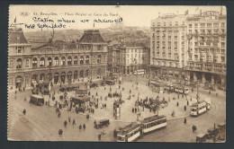 CPA - BRUXELLES - BRUSSEL - Place Rogier Et Gare Du Nord - Statie - Tram - P.I.B.   // - Places, Squares