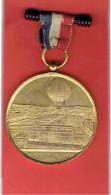 MEDAILLE SOUVENIR DE MON ASCENSION DANS UN BALLON CAPTIF A VAPEUR GIFFARD 1878 PARIS EXPOSITION UNIVERSELLE AEROSTATION - Obj. 'Remember Of'