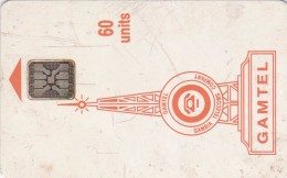 Gambia, GAM-D4E, 60 Units, Logo - Orange, 2 Scans.  SC5 Chip In ISO Position, Hole 6 Mm   Many Marks