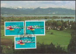 Emission Commune Suisse - Autriche - Allemagne. Carte Maximum Commune Bodensee 1993 - Joint Issues