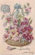 AK Korb Mit Blumen - Cueillez Pour Vous - 1906 (23265) - Blumen
