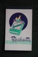 """Petit Bloc Note Avec Publicité Recto Verso , Cigarettes Raffraichissante """" SUPERMINT """". - Objets Publicitaires"""