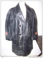 Canadiènne MANTEAU CUIR  Type NKVD  Comissaire Politique URSS  Russe - Uniforms