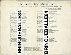PARTITION MILITARIA HENNEMONT 55160 VILLÉGIATURE POILUS TRANCHÉES LÉAUTAUD 366e RI ÉTAIN HERMÉVILLE - 1914-18