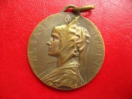 Médaille Alsace 1870/1914 - Cuivre 31mm 14g - France