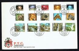 1980  First Definitive Issue  Set Of 15 On Single Unaddressed  FDC - Zimbabwe (1980-...)