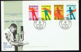 1981  Year Of The Disabled   Complete Set On Single  Unaddressed  FDC - Zimbabwe (1980-...)