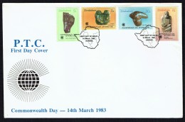 1983  Commonwealth Day - Sculptures -     Complete Set On Single  Unaddressed  FDC - Zimbabwe (1980-...)
