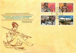 1985  National Archives     Complete Set On Single  Unaddressed  FDC - Zimbabwe (1980-...)