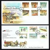 1990 Third Definitive Set 15¢ To $2 Values Complete Set On Two  Unaddressed  FDC - Zimbabwe (1980-...)