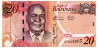 BOTSWANA 20 PULA 2012 Pick 31c Unc - Botswana