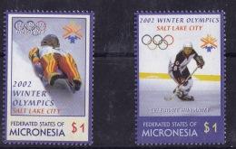 Micronesia (Sc# 486-87), MNH, (Set Of 2) Winter Olympics, Salt Lake     (2002) - Micronesia