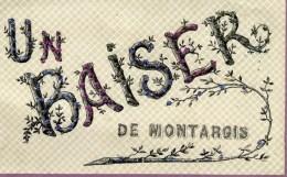 45 Un Baiser De MONTARGIS Belle Fantaisie à Paillettes Brillantes - Montargis