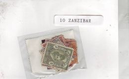 ZANZIBAR 10 TIMBRES DIFFERENTS OBLITERES TRES BON ETAT - Zanzibar (1963-1968)