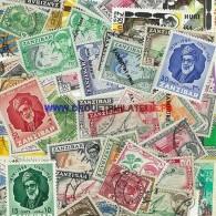ZANZIBAR 25 TIMBRES DIFFERENTS OBLITERES TRES BON ETAT - Zanzibar (1963-1968)