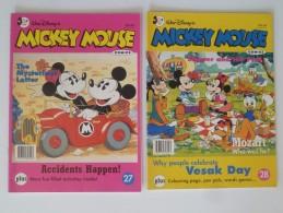 VINTAGE ! Set Of 2 Books 1995 Singapore Walt Disney´s Comic Magazine (# 27/28) - Libri, Riviste, Fumetti