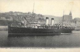 """Boulogne-sur-Mer - Le Nouveau Steamer """"Onward"""" - Carte LL Non Circulée - Piroscafi"""
