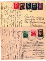 ITALIA  Intero  Postale Repubblica  Lotto  2 Pezzi - 6. 1946-.. Repubblica