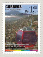 Bolivia 2014 Opening Teleférico La Paz-El Alto Calble Car Mountains Mt. Illimani MNH ** - Bolivie
