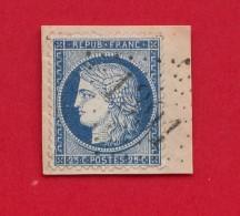 GC 1391 - Ennezat -  (Puy De Dôme) Sur Type Cérès 25 Centimes Sur Fragment - Marcophilie (Timbres Détachés)