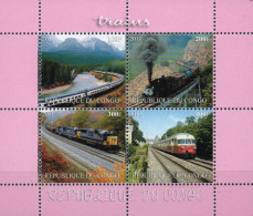 Kongo Kleinbogen 2011 Eisenbahnzüge  **/MNH - Treni