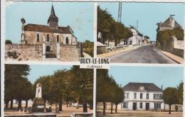 BUCY LE LONG MAIRIE EGLISE MONUMENT AUX MORTS RUE PRINCIPALE TBE - France