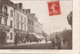03 Allier  :  Montluçon  Le Boulevard De Courtais En Face L'avenue De La Gare (pub De La  Belle Jardinière )    Réf 1836 - Montlucon