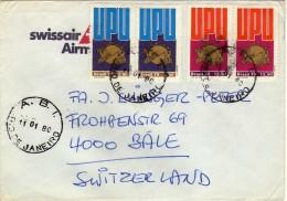 1979 UPU Day.letter Brazil Via Switzerland.nice Stamps - Brazilië