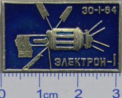 237 Space Soviet Russia Pin. Satellite Electron - 1 (30.I.1964) - Raumfahrt