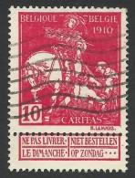 Belgium, 10 C. 1910, Sc # B8, Mi # 88I, Used - 1910-1911 Caritas