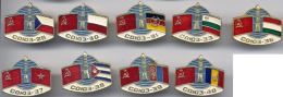 292 Space Soviet Russia Pins Set. INTERKOSMOS (9 Pins) - Raumfahrt