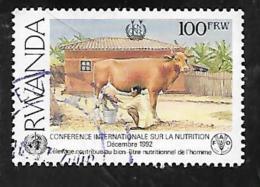 TIMBRE OBLITERE DU RUANDU DE 1992 N° MICHEL C 1453 - Rwanda