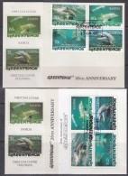 Samoa 1997  Dolphins Greenpeace 4v  + M/s 2 FDC (GPFDC07) - Samoa