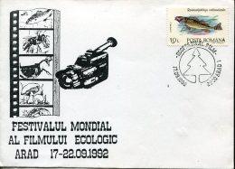 9471 Romania,  Special Postmark 1992  Ecology Film Festival - Cinema