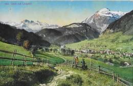 LUNGERN → Blick Auf Lungern 1916 ►Stempel Kriegsgefangenen-Internierung LUNGERN-SCHWEIZ◄ - OW Obwald