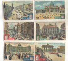 6 Chromos Liebig : Vues Des Capitales - Liebig