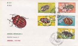 Turkey FDC 1983 Harmful Insects II (SKO5-2) - Unclassified