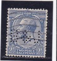 PERFIN / Y&T N°143    Perforé  B&L  - 2 SCANS - Grande-Bretagne