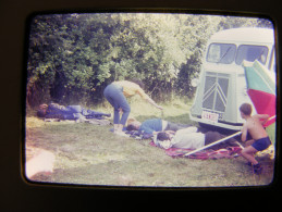 Citroen HY Tub Type H Marché Diapositive Diapo Silde 35mm 24x36 Real Photo 1967 Homme Dort Saoul ? Amusant - Automobili