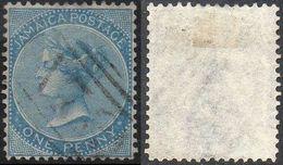 JAMAICA  1860 1d Blue Used - Giamaica (...-1961)