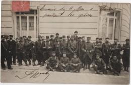 Carte Photo PASSY Militaria Grèves 4 Mai 1906 - Strikes