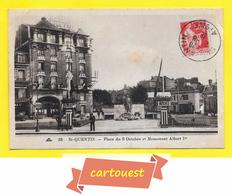 CPA 02 SAINT QUENTIN  Place Du 8 Octobre Et Monument Albert 1er  1936 - Saint Quentin