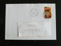 AUBERVILLIERS CC - SEINE SAINT DENIS - CACHET ROND MANUEL SUR YT 3562 CAMEMBERT FROMAGE - Marcophilie (Lettres)