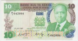Kenya 10 Shilingi 1987  Pick 20f UNC - Kenia