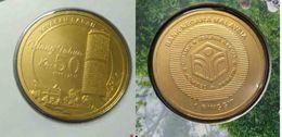Malaysia Coin 2016 1 Ringgit  Sabah Borneo Building Fund Nordic Gold BU Coin Card - Malaysia
