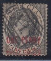 GRAN BRETAÑA/SANTA LUCIA 1883/84 - Yvert #20 - VFU - St.Lucia (...-1978)