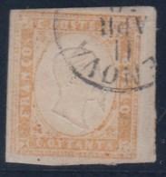 ITALIA - ESTADOS ANTIGUOS/SARDAÑA 1855/61- Yvert#13B - Sardegna