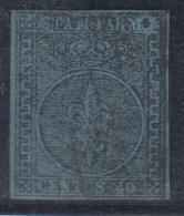 ITALIA - ESTADOS ANTIGUOS/PARMA  1852- Yvert#5 - Parme